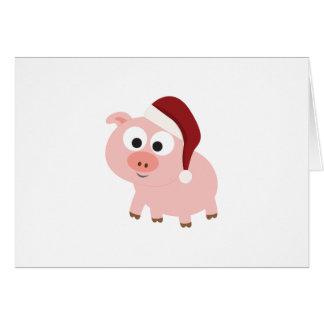 Santa Pig Note Card