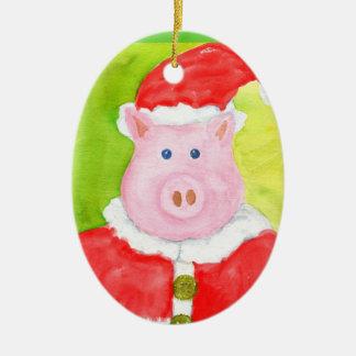 Santa Pig Ornament