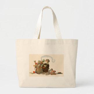 Santa Pipe Sack of Toys Bag