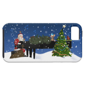 Santa Playing Piano iPhone 5 Case