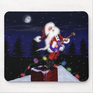 Santa Plays Guitar Mousepads