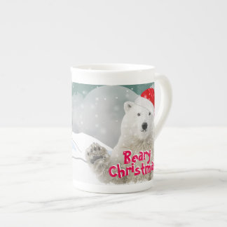 Santa Polar Bear | Beary Christmas Bone China Mug