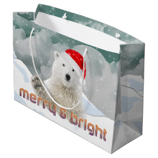 Santa Polar Bear | Beary Christmas Gift Bag