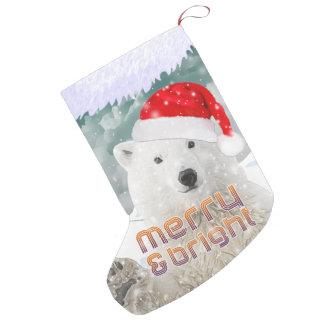 Santa Polar Bear | Beary Christmas Stocking