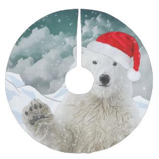 Santa Polar Bear | Beary Christmas Tree Skirt