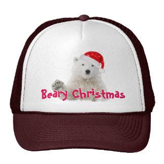 Santa Polar Bear | Beary Christmas Trucker Hats
