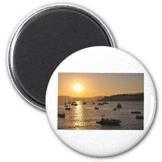 Santa ponsa sunset 6 cm round magnet