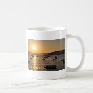 Santa ponsa sunset basic white mug