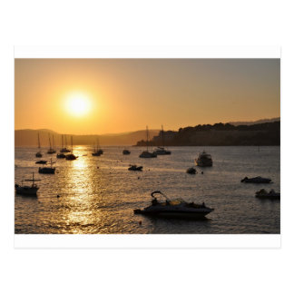 Santa ponsa sunset postcard