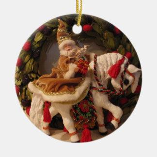 Santa Pony Christmas Ornament
