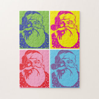 Santa Pop art Merry Christmas Jigsaw Puzzle