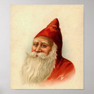 Santa Portrait Card Posters