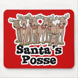 Santa posse reindeer mouse pads