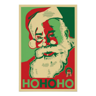 Santa Poster - HoHoHo
