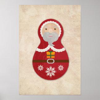 santa poster Russian doll babushka