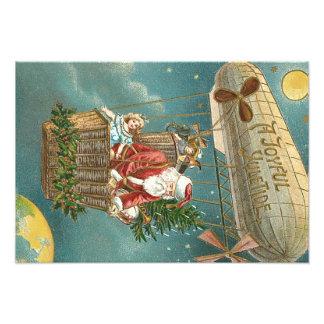 Santa Presents Gifts Christmas Tree Balloon Art Photo