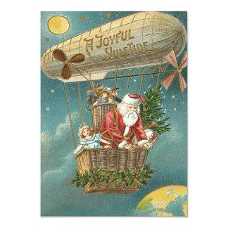 Santa Presents Gifts Christmas Tree Balloon Card