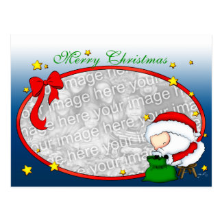 Santa Presents postcard Template