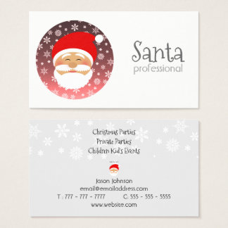 Santa Professional Christmas Party Celebration Business Card