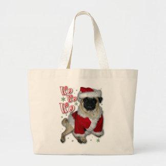 Santa Pug Tote Bag