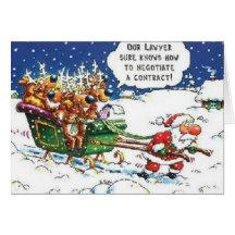 Santa Pulling Reindeer