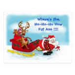 Santa Pulling Sleigh / Reindeer sitting in sleigh