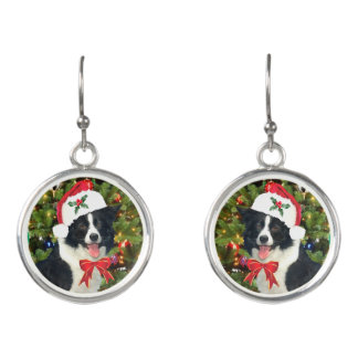"""""""Santa Pup"""" Holiday Drop Earrings"""
