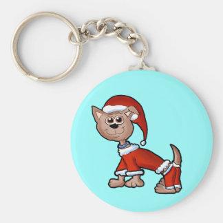 Santa Pup Keychain