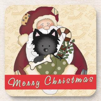 Santa Puppy Beverage Coasters