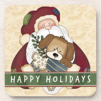 Santa Puppy Coaster