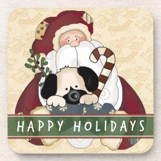 Santa Puppy Drink Coasters