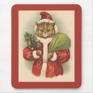 Santa Puss Mouse Pad