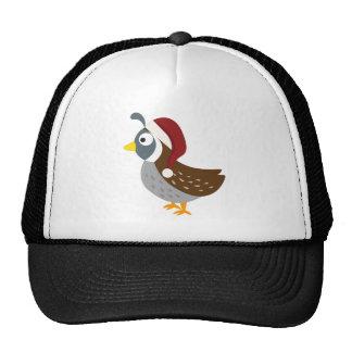 Santa Quail Trucker Hats