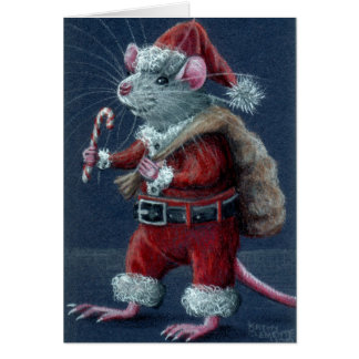 Santa Rat Christmas Card