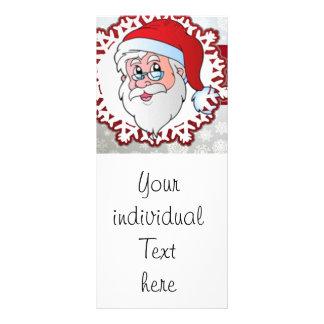 santa red frame customized rack card