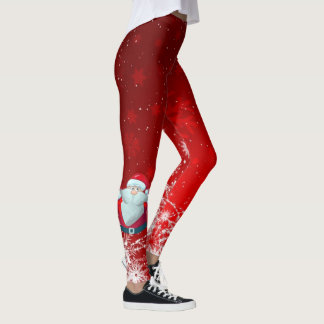 Santa red leggings