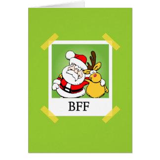 Santa Reindeer BFF s Greeting Card