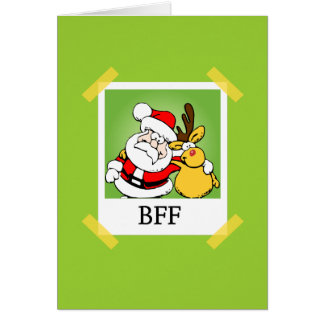 Santa & Reindeer  BFF's Greeting Card