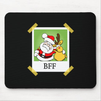 Santa & Reindeer  BFF's Mouse Mat