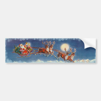 SANTA  & REINDEER by SHARON SHARPE Bumper Sticker