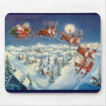 SANTA & REINDEER by SHARON SHARPE Mouse Pad