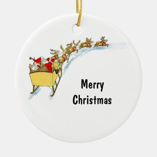 Santa & Reindeer Christmas Ornaments