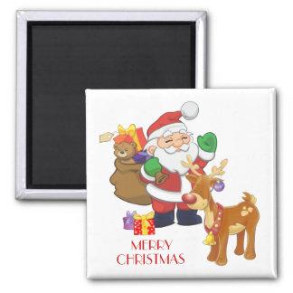 Santa & Reindeer Magnet