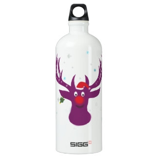 Santa Reindeer Rudolf  Traveller (1.0L), White Water Bottle