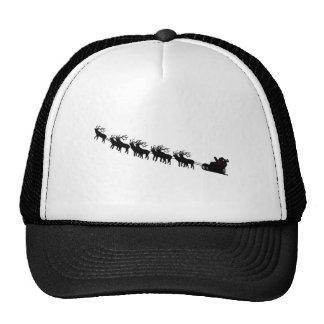 Santa & Reindeer Silhouette Cap