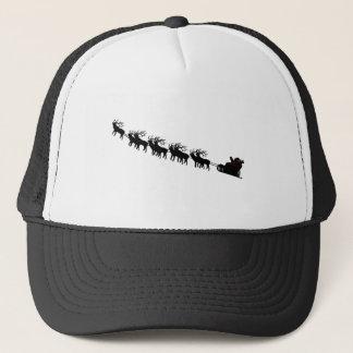 Santa & Reindeer Silhouette Trucker Hat