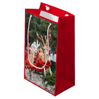 Santa & Reindeer Small Gift Bag