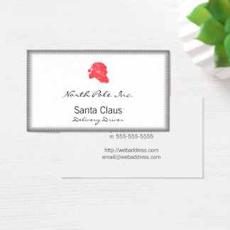 Santa Retro Silhouette Business Card