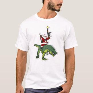 Santa Riding a T-Rex T-Shirt