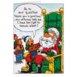 Santa Right To Remain Silent Greeting Card